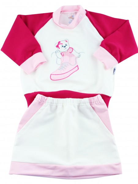 Baby footie outfit in cotton sneakers. Colour pink, size 00 Pink Size 00