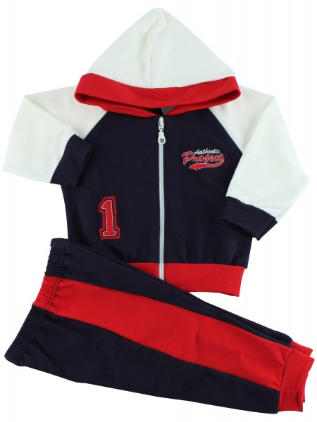 Picture hooded sweatshirt authentic suit. Colour blue, size 6-9 months Blue Size 6-9 months