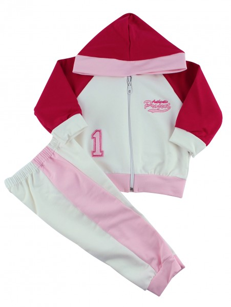 Picture hooded sweatshirt authentic suit. Colour pink, size 1-3 months Pink Size 1-3 months