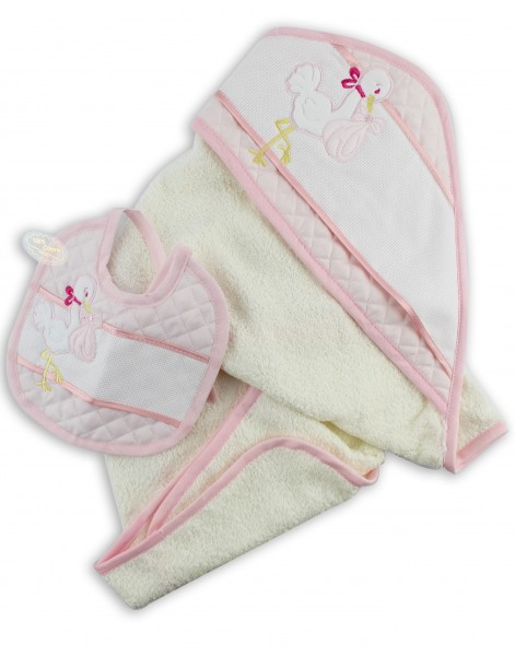 Picture cotton bathrobe layette. Colour pink, one size Pink One size