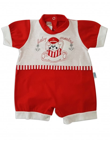 Picture baby footie baby romper baby marins. Colour red, size 0-1 month Red Size 0-1 month