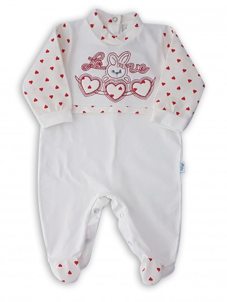 Picture cotton baby footie jersey bunny love bunny. Colour red, size 6-9 months Red Size 6-9 months