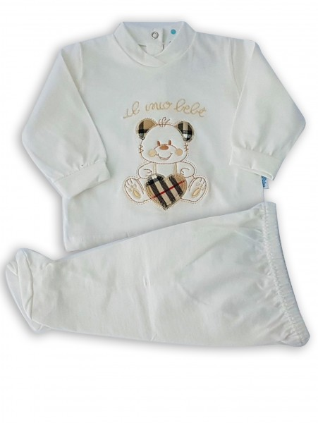 Picture baby footie outfit cotton my baby. Colour creamy white, size 3-6 months Creamy white Size 3-6 months