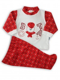 image baby outfit baby bear boatswain. Colour red, size first days