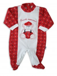 Image cotton baby footie jersey jersey small sailor. Colour red, size 0-1 month