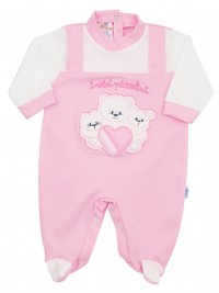 Image cotton baby footie interlock my little ones. Colour pink, size 0-1 month