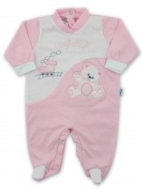 Baby footie jersey ciufciuf image. Colour pink, size 1-3 months