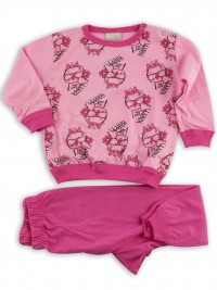 Picture baby footie pajamas jersey jersey jufetta with glasses. Colour coral pink, size 9-12 months