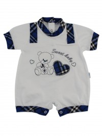 Picture baby footie straw boy sweet baby. Colour blue, size 6-9 months