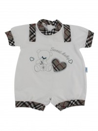 Picture baby footie straw boy sweet baby. Colour grey, size 6-9 months