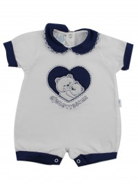 Image baby footie break very tender. Colour blue, size 0-1 month