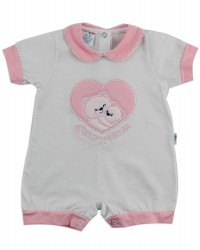 Image baby footie break very tender. Colour pink, size 3-6 months