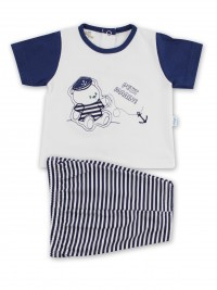 Picture baby footie outfit jersey le petit marine. Colour white, size 3-6 months