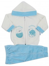 Picture hood suit let's play together. Colour turquoise, size 3-6 months