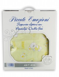 Image layette cotton bed love balloon. Colour yellow, one size