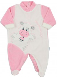 baby footie chenille cow cow moo. Colour pink, size 00