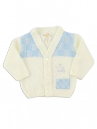 layette mixed wool mouse jacket. Colour creamy white, size 0-1 month