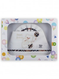 Picture layette sweet friends cotton cradle. Colour creamy white, one size