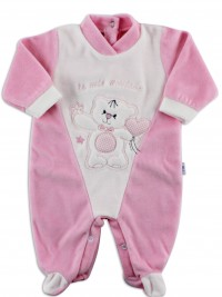 Picture baby footie chenille my friends. Colour pink, size 6-9 months