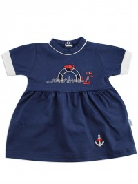 Picture baby footie marine cotton dress up. Colour blue, size 0-1 month