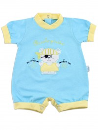 Picture baby footie romper little pirate. Colour turquoise, size 6-9 months