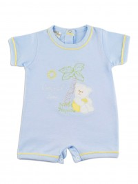 Image baby footie romper coast line. Colour light blue, size 1-3 months