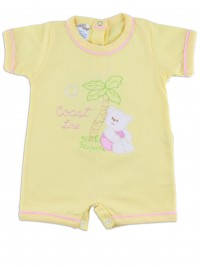 Image baby footie romper coast line. Colour yellow, size 1-3 months