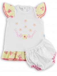 Picture baby footie outfit jersey le flowers. Colour white, size 1-3 months