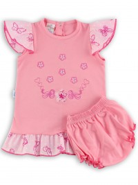 Picture baby footie outfit jersey le flowers. Colour coral pink, size 1-3 months