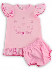 Picture baby footie outfit jersey le flowers. Colour pink, size 1-3 months