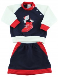 Picture baby footie outfit cotton sneaker. Colour blue, size 3-6 months