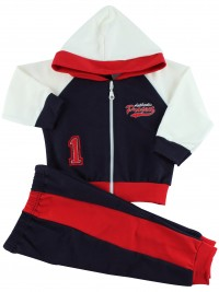 Picture hooded sweatshirt authentic suit. Colour blue, size 6-9 months