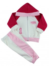 Picture hooded sweatshirt authentic suit. Colour pink, size 6-9 months