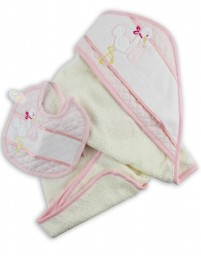 Picture cotton bathrobe layette. Colour pink, one size