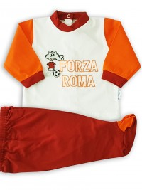 baby footie outfit in cotton force roma. Colour white, size first days