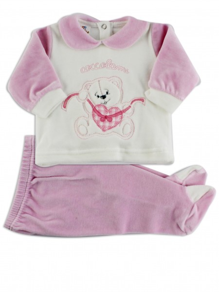 Picture baby footie outfit chenille pamper me. Colour pink, size 3-6 months Pink Size 3-6 months
