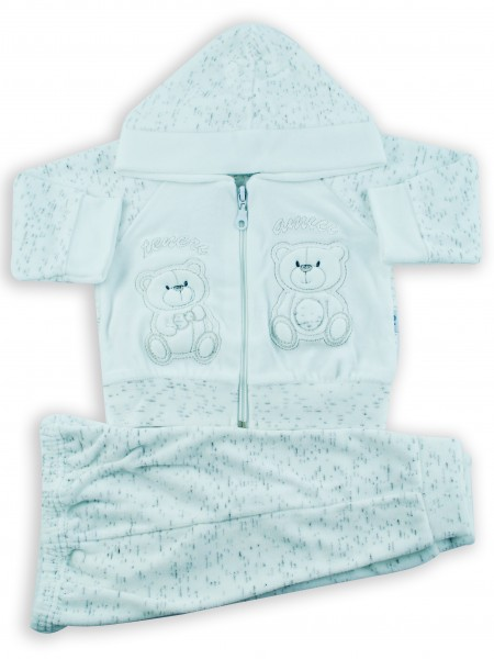 Picture cute friends hooded jumpsuit. Colour white, size 3-6 months White Size 3-6 months