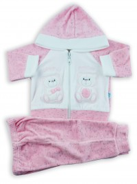Picture cute friends hooded jumpsuit. Colour pink, size 6-9 months