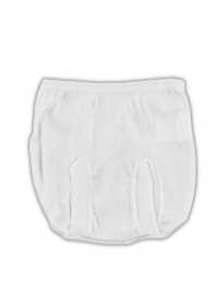 Anatomical cotton panties image. Colour white, size 0-1 month