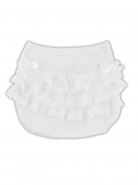 Anatomical baptismal cotton panties image. Colour white, size 0-1 month