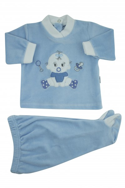 baby outfit baby sitting. Colour light blue, size first days Light blue Size first days