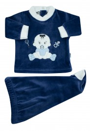 baby outfit baby sitting. Colour blue, size 0-1 month