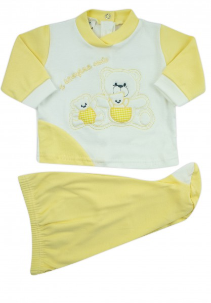 outfit x always my interlock with three bears. Colour yellow, size 0-1 month Yellow Size 0-1 month
