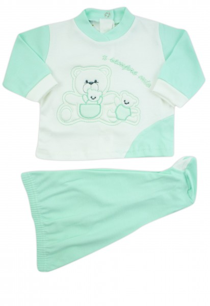 outfit x always my interlock with three bears. Colour green, size 0-1 month Green Size 0-1 month