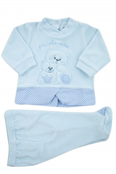 outfit small my chenille. Colour light blue, size 0-1 month Light blue Size 0-1 month