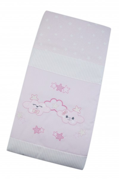 cover cradle and pram 100% cotton. Colour pink, one size Pink One size