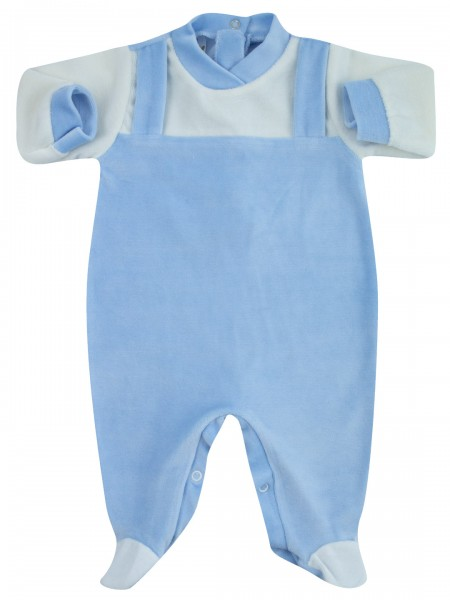 baby footie for newborns single colour dungarees. Colour light blue, size 1-3 months Light blue Size 1-3 months