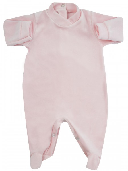 baby footie for monochrome infant. Colour pink, size 0-1 month Pink Size 0-1 month