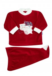baby outfit in chenille star comet. Colour red, size 0-1 month