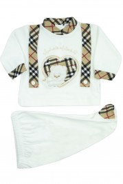newborn windows of love outfit with scottish storyline. Colour creamy white, size first days